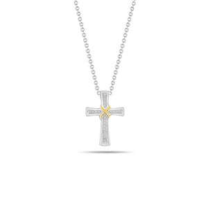 Wrapped Cross Pendant