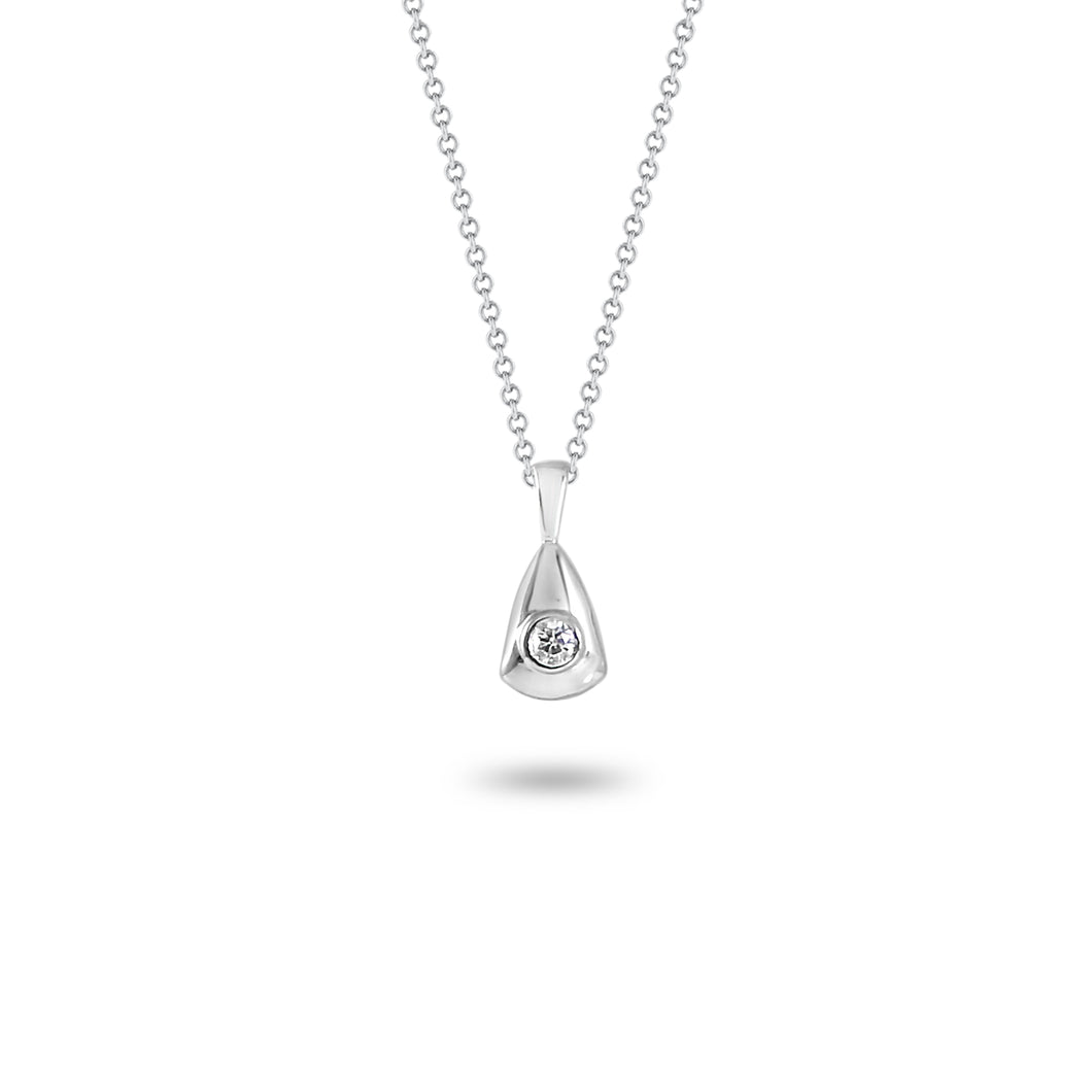 Abstract Solitaire Pendant