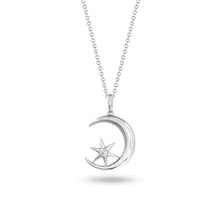 Load image into Gallery viewer, Crescent Moon & Star Pendant