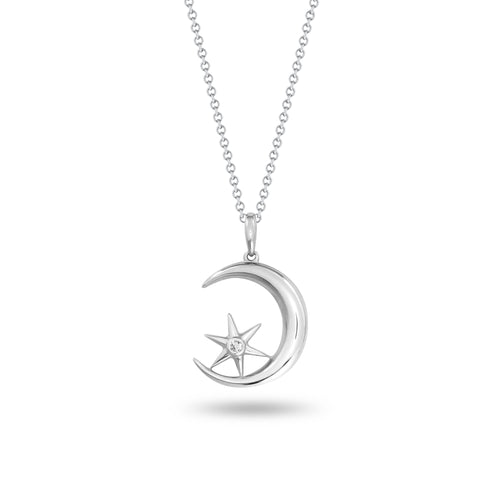 Crescent Moon & Star Pendant
