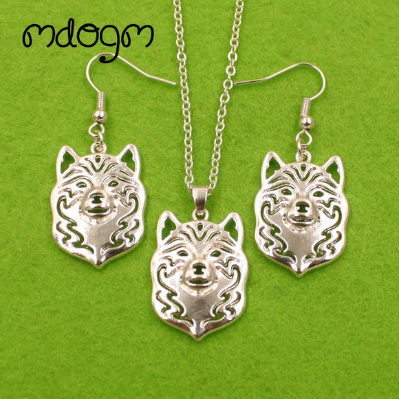TSJ Shiba Inu Necklace & Earrings Set