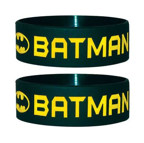 Batman - Text & Logo Wristband