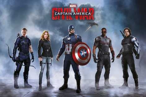 Captain America Civil War - Team Captain America Maxi Poster