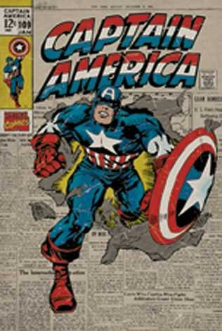 Marvel Captain America - Retro Maxi Poster