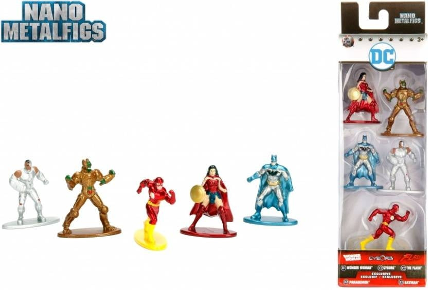 DC Pack Of 5 Nano Metal Figures - Pack 1