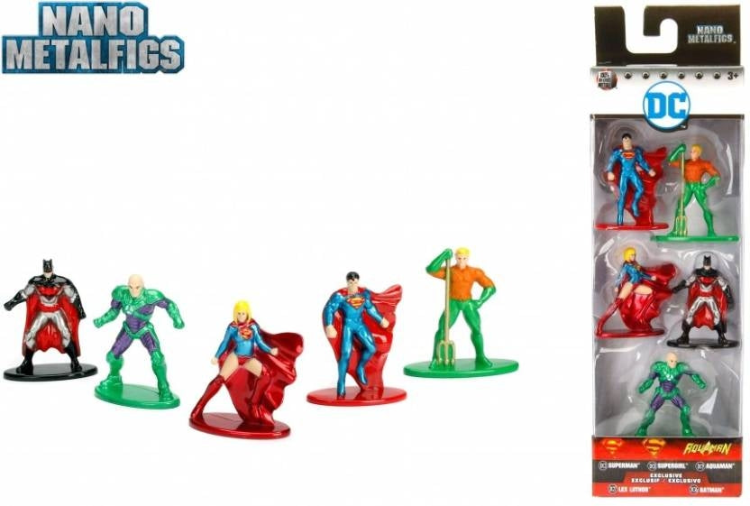 DC Pack Of 5 Nano Metal Figures - Pack 2