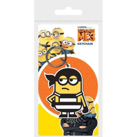 Despicable Me 3 - Minion Bandana - Rubber Keychain