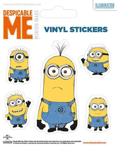 Despicable Me - Illustrated Minion - Vinyl Stickers