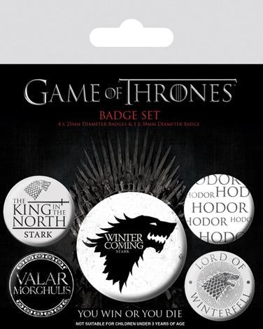 Game Of Thrones - Winter Is Coming Badgepack