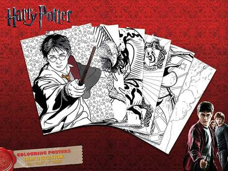 Harry Potter - Hogwarts - Colouring Poster Pack