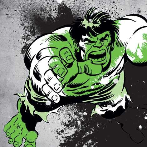 Hulk - Splatter Canvas Print