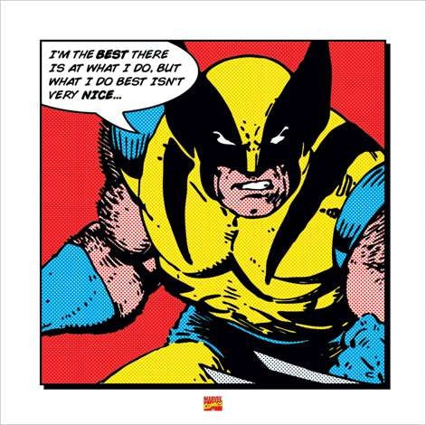 IP Wolverine - I m The Best Art Print