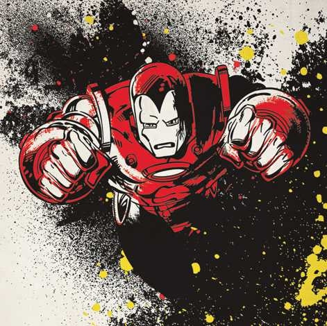 Ironman - Splatter Canvas Print