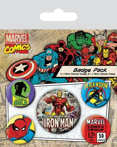 Marvel Retro - Ironman Badgepack