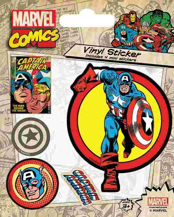 Marvel Comics - Captain America Retro Sticker