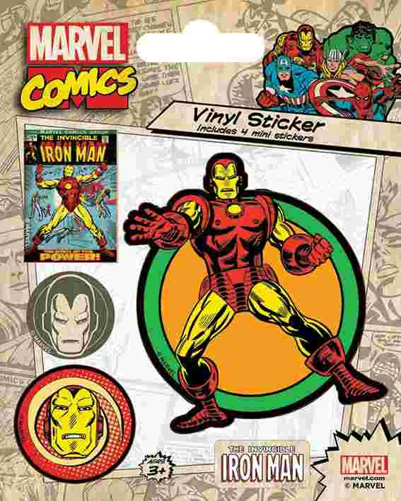 Marvel Comics - Ironman Retro Sticker
