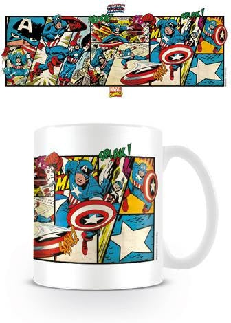 Marvel Retro - Captain America Panels Coffee Mug