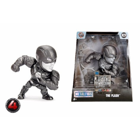 "Jada 4"" The Flash Metal Die Cast Figure- Monochrome Finish"