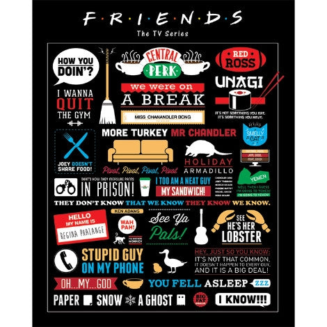 Friends - Infographic - Mini Poster
