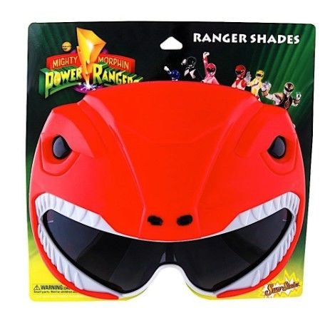 Red Power Rangers Sun Staches