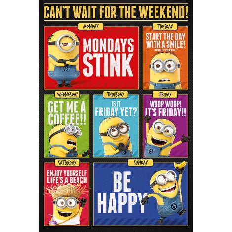Despicable Me 3 - Can't Wait for the Weekend - Maxi Poster