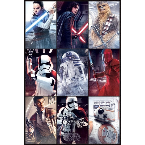 Star Wars The Last Jedi - Characters - Maxi Poster