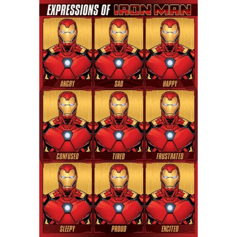 Avengers Expressions Of Iron Man Maxi Poster