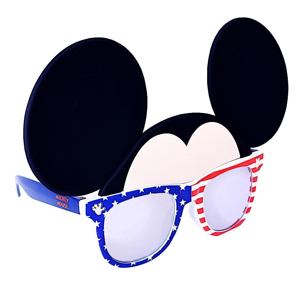 Red White and Blue Mickey Sun Staches