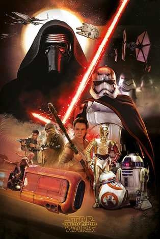 Star Wars Ep VII - Montage Maxi Poster