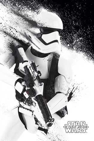Star Wars Ep VII - Storm Trooper Paint Maxi Poster