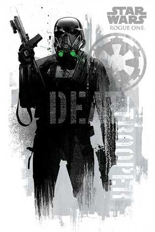 Star Wars Rogue One - Death Trooper Grunge Maxi Poster