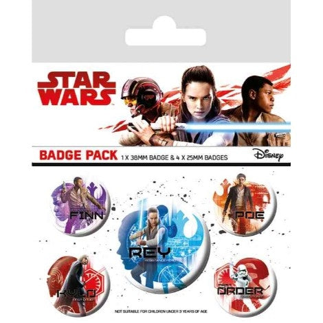 Star Wars: The Last Jedi - Icons - Badge Pack