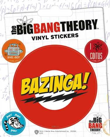The Big Bang Theory - Bazinga - Vinyl Stickers