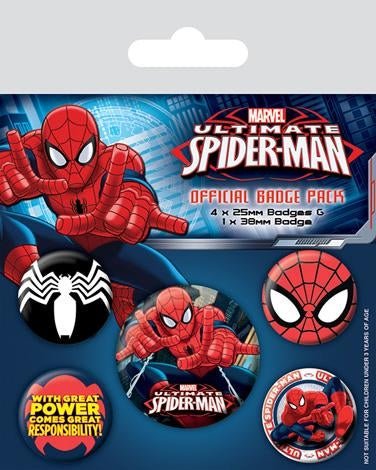 Ultimate Spiderman Badgepack
