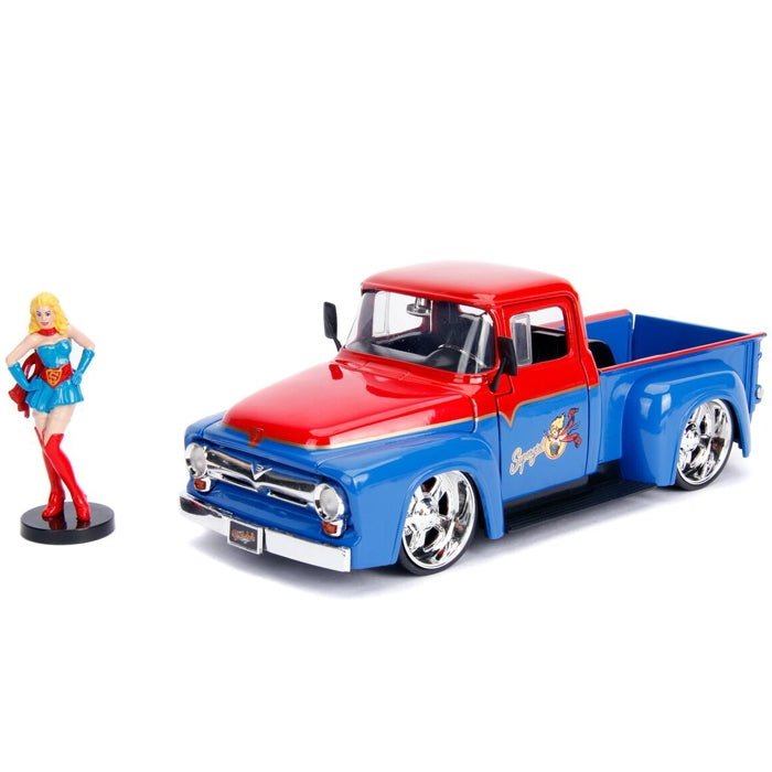 Jada 1:24 Scale DC Bombshell 1956 Ford F100 w- Super Girl Figure