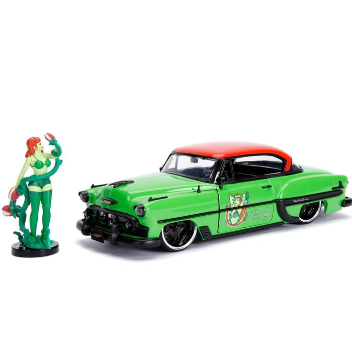 Jada 1:24 Scale DC Bombshell 1953 Chevy Bel Air Hard Top w- Poison Ivy Figure
