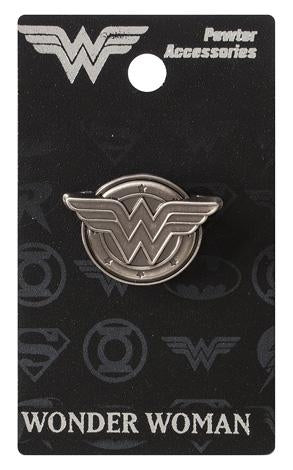 Wonder Woman Logo Pewter Lapel Pin Badge