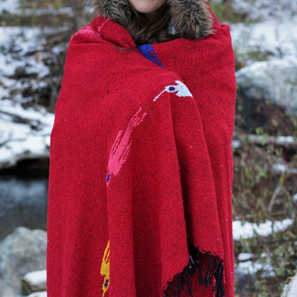 thunder bird mexican blanket yoga blanket