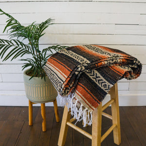 Mexican Blanket - Tan Rust Falsa
