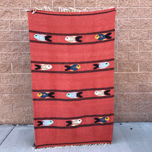 baja mexican blanket yoga throw fish design