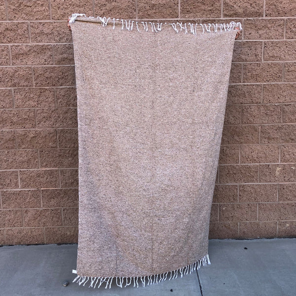 woven blanket mexican baja blanket yoga throw tan