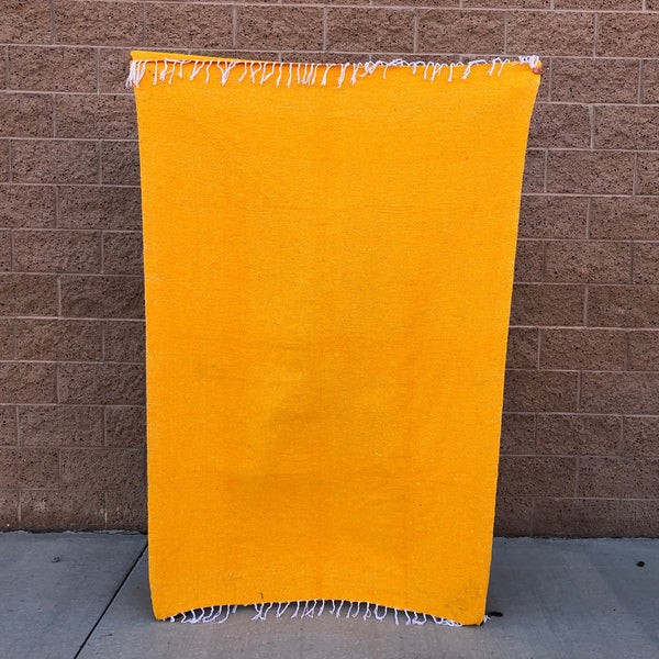 woven blanket mexican baja blanket yoga throw yellow
