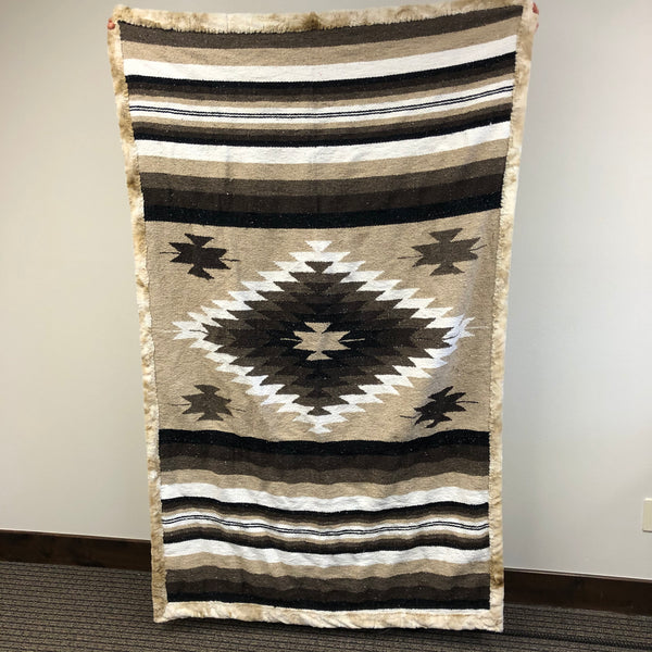 natural tribal soft minky blanket fancy mexican throw adult size