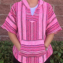 Load image into Gallery viewer, Mexican Baja Hoodie Poncho Pullover (MULTIPLE COLORS)