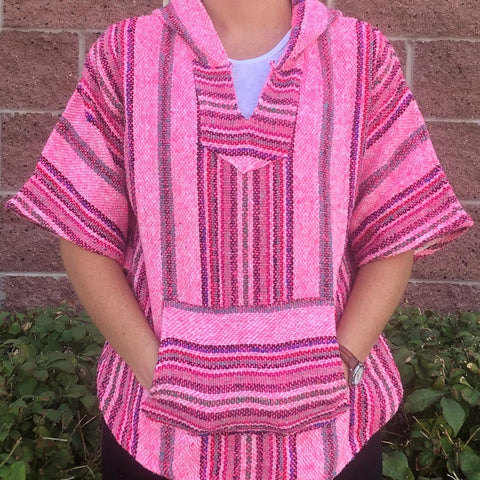 Mexican Poncho Pullover (MULTIPLE COLORS)
