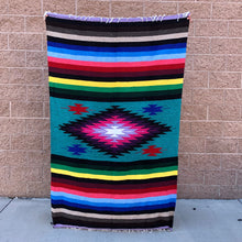 Load image into Gallery viewer, color diamond mexican baja blanket yoga blanket