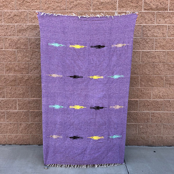 mexican baja blanket thunder bird yoga blanket lavender