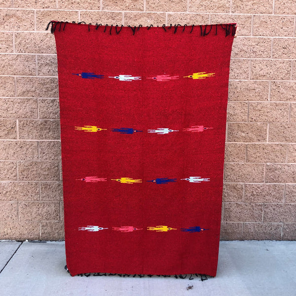 red thunder bird blanket indian blanket yoga throw mexican rug