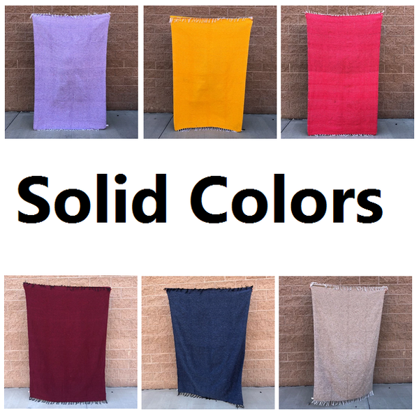 solid color mexican blankets