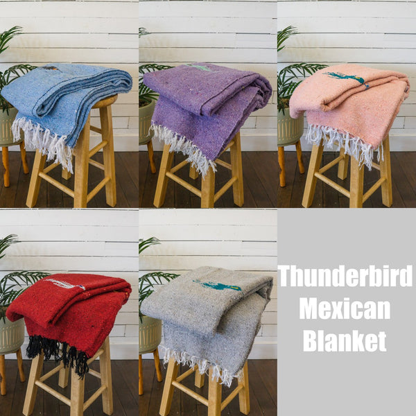 mexican baja blanket thunder bird yoga blanket red